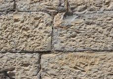 Wand hergestellt von den natürlichen Felsen Stockfotografie