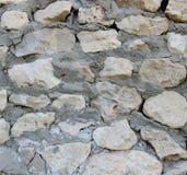 Wand hergestellt von den natürlichen Felsen Stockbild