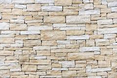 Wand hergestellt von den Sandsteinziegelsteinen Stockfotografie