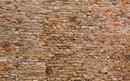 Wand hergestellt von den Ziegelsteinen stockfoto