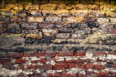 Wand hergestellt von einer Mischung des ungebackenen Lehms und des Strohs Lizenzfreie Stockfotografie