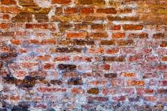 Wand im Beton und in den Ziegelsteinen Fenster an der Wand des Geschäftszentrums Lizenzfreie Stockfotos