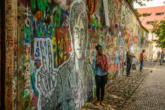 Wand John-Lennon Stockfoto