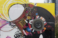 Wand-Kunst, Boston Massachusetts, im September 2014 Lizenzfreie Stockfotos
