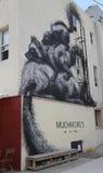 Wand- Kunst durch belgischen Künstler Roa in Ost-Williamsburg in Brooklyn Lizenzfreie Stockbilder