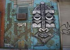 Wand- Kunst in Ost-Williamsburg in Brooklyn Stockbild