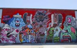 Wand- Kunst in Ost-Williamsburg in Brooklyn Stockfoto