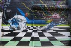 Wand- Kunst in Ost-Williamsburg in Brooklyn Lizenzfreie Stockfotografie