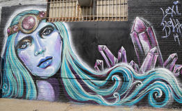 Wand- Kunst in Ost-Williamsburg in Brooklyn Stockfotos