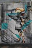 Wand- Kunst in Ost-Williamsburg in Brooklyn Lizenzfreies Stockbild
