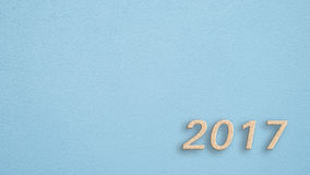 Wand mit 2017 Blau stockbilder