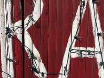 Wand mit Buchstaben Lizenzfreie Stockfotos