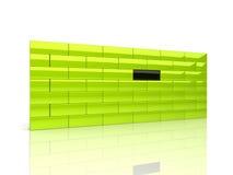 Wand mit eindeutigem Ziegelstein lizenzfreie abbildung