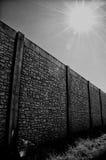 Wand mit Fluchtpunkt und Sonne Lizenzfreie Stockbilder