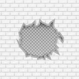 Wand mit Loch Auch im corel abgehobenen Betrag Stockbild