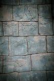 Wand mit Muster des Steins und des Ziegelsteines Stockbilder