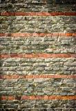 Wand mit roten Streifen Lizenzfreies Stockbild