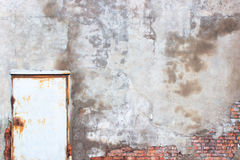 Wand mit Schalengips, Schmutzhintergrund für Design Stockfoto