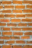 Wand mit Ziegelstein Stockbild