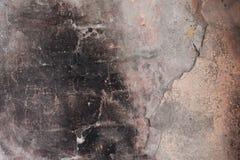 Wand nach einem Feuer Stockfotos