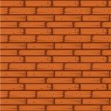 Wand-nahtlose Vektor-Illustration des roten Backsteins lizenzfreie abbildung