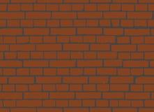 Wand-nahtloser Vektor-Illustrations-Hintergrund des roten Backsteins Stock Abbildung