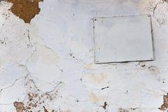 Wand rehabilitiert durch Kalk, Farbe, strukturierter Hintergrund ukraine Stockfoto
