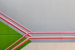 Wand- und Geländerhintergrund Stockfoto