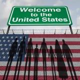 Wand und Immigration Vereinigter Staaten lizenzfreie abbildung