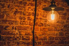 Wand und Lampe Stockfoto