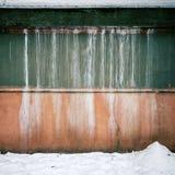 Wand und Schnee Stockbild