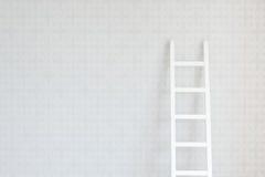 Wand und Strichleiter Stockfotos