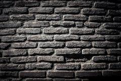 Wand von alten gebrochenen Ziegelsteinen Strukturierter Hintergrund getont Stockfotos