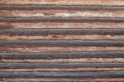 Wand von alten geschwärzten Klotz Lizenzfreie Stockfotografie