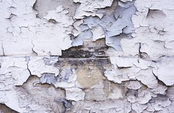 Wand von alten hölzernen Brettern mit Schalenfarbe im alten Gebäude in Catania, Sizilien, Italien stockfoto