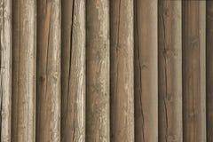 Wand von alten Klotz Lizenzfreies Stockbild