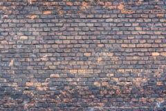 Wand von alten rauen Ziegelsteinen Stockfotografie