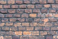 Wand von alten rauen Ziegelsteinen Weicher Fokus Lizenzfreie Stockbilder