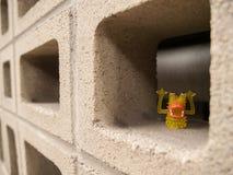 Wand von Cinder Blocks Lizenzfreies Stockbild