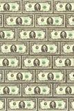Wand von den Dollar, ein Hintergrund für Auslegung Stockbild