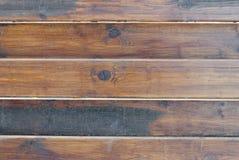 Wand von den hölzernen horizontalen Brettern, Naturholz, Grau, Hintergrund Lizenzfreie Stockfotos