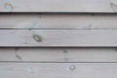 Wand von den hölzernen horizontalen Brettern, Naturholz, Grau, Hintergrund Lizenzfreies Stockbild