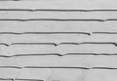 Wand von den hölzernen horizontalen Brettern, Naturholz, Grau, Hintergrund Stockfotografie