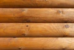 Wand von den natürlichen hölzernen Klotz, Naturholz Lizenzfreies Stockbild