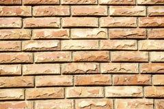 Wand von farbigen Ziegelsteinen Stockfotografie