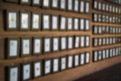 Wand von Mini Frames stockfotografie