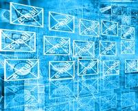 Wand von Mitteilungen Stockbild