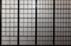 Wand von Post-Kästen Vereinigter Staaten Lizenzfreies Stockbild