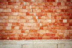 Wand von roten Blöcken Stockbild