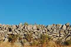 Wand von Steinen Stockfoto